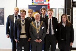 Mayor and students