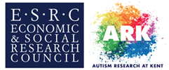 E.S.R.C Economic and Social Research Council and Autism Research at Kent logo