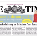 """Headline from The Times """"Baroness to Make History as Britain's First Female Top Judge"""" from Andrew Powell (@Andrew_Powell1)"""